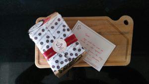 Café do Mês do Grão Gourmet com a carta de boas vindas!